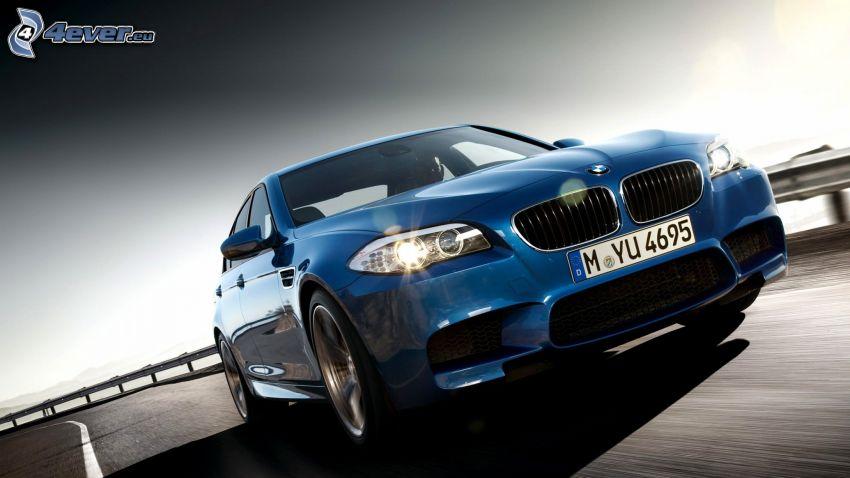 BMW M5, strada, curva