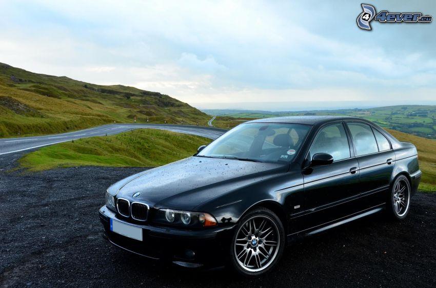BMW M5, strada, montagna