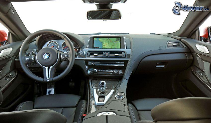 BMW M6, interno, volante, cruscotto, leva del cambio
