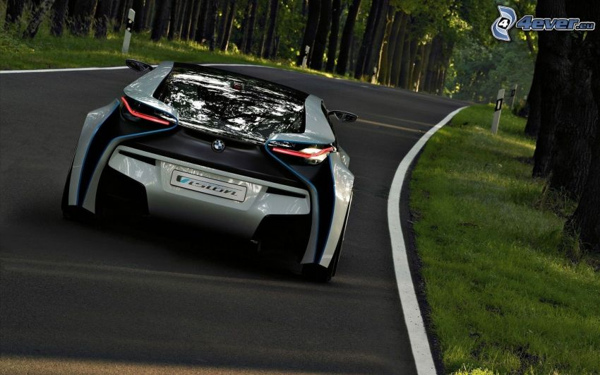 BMW Vision Efficient Dynamics, concetto, strada