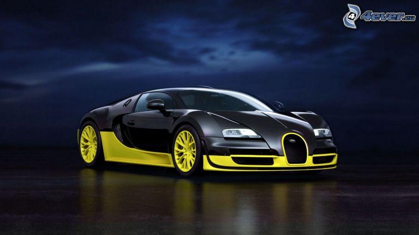 Bugatti Veyron, notte