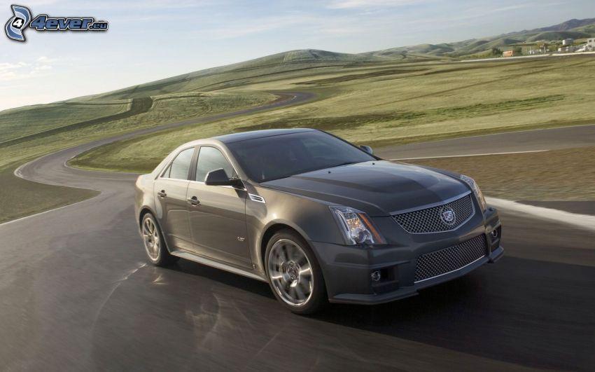 Cadillac CTS, strada serpeggiante, velocità