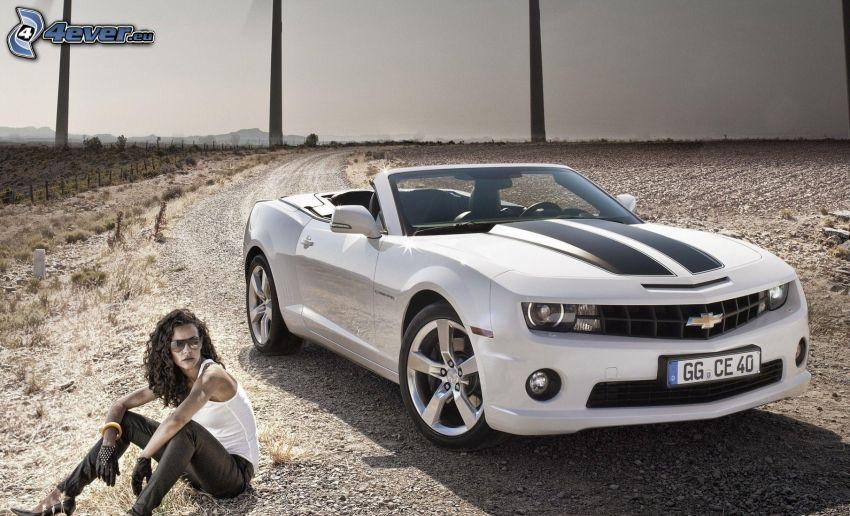 Chevrolet Camaro, cabriolet, donna