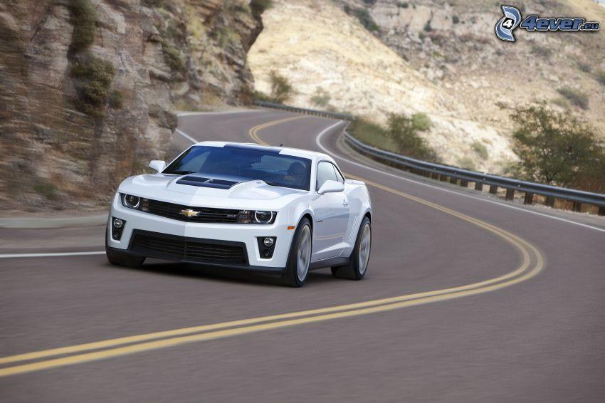 Chevrolet Camaro, strada, curva, velocità