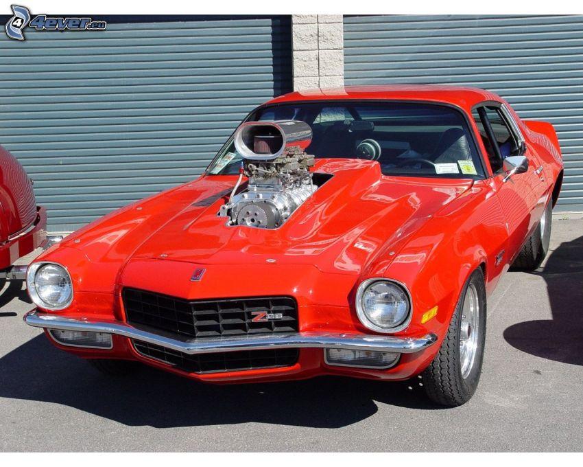 Chevrolet Camaro Z28, Big Block, veicolo d'epoca, Garage