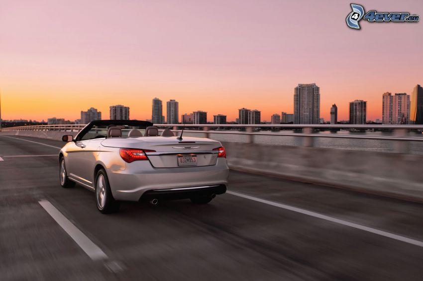 Chrysler 200 Convertible, cabriolet, grattacieli, velocità
