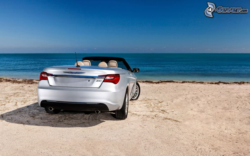 Chrysler 200 Convertible, cabriolet, spiaggia, mare