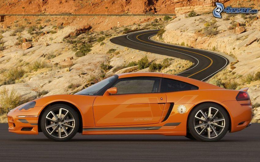 Dodge Circuit EV, auto elettrica, strada