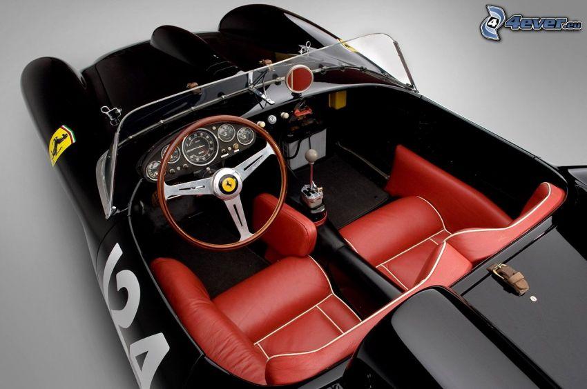 Ferrari 250 GT, veicolo d'epoca, cabriolet, interno