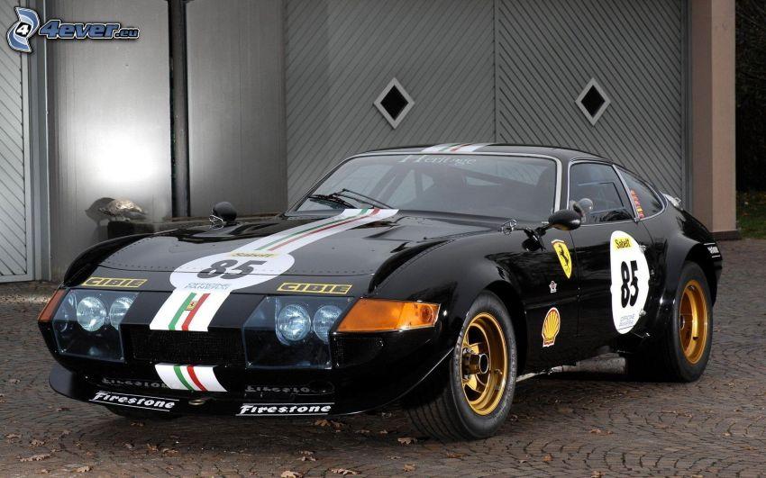 Ferrari 365 GTB, veicolo d'epoca, auto sportive, piastrelle