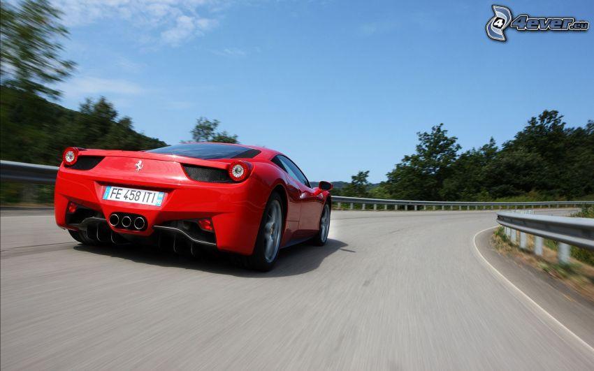 Ferrari 458 Italia, strada, velocità