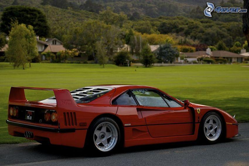 Ferrari F40, veicolo d'epoca, auto sportive
