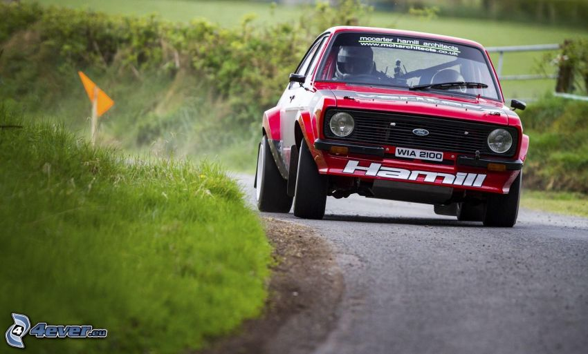 Ford Escort, veicolo d'epoca, rally