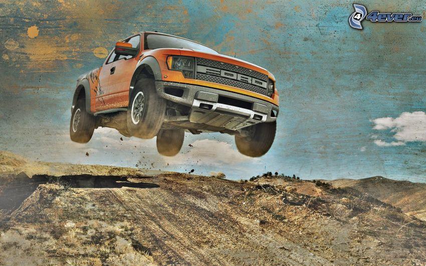 Ford F150 raptor, salto