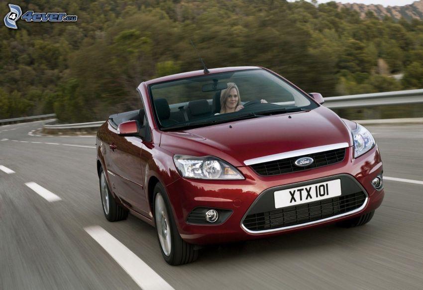 Ford Focus, cabriolet, strada, velocità