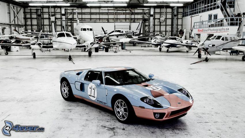 Ford GT40, auto sportive, veicolo d'epoca, aerei