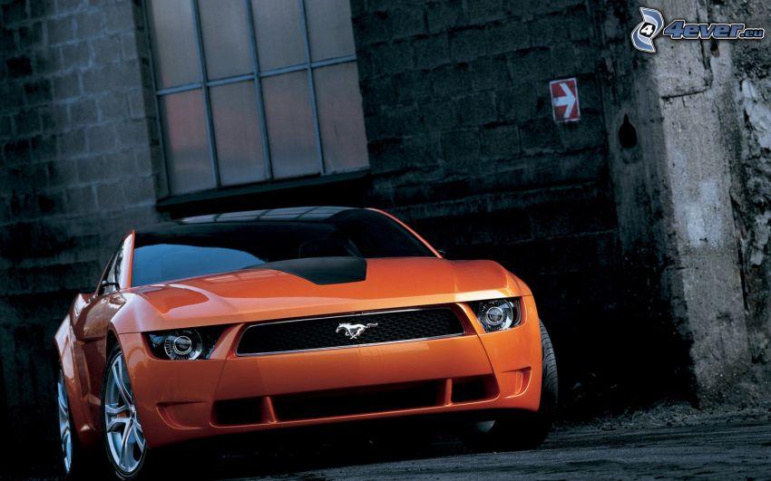 Ford Mustang Giugiaro, muro, finestra
