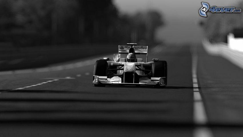 Formula 1, foto in bianco e nero
