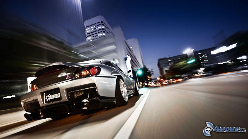 Honda S2000, città notturno, velocità