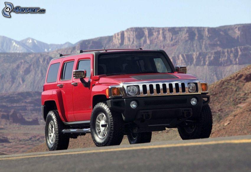 Hummer H3, montagne rocciose