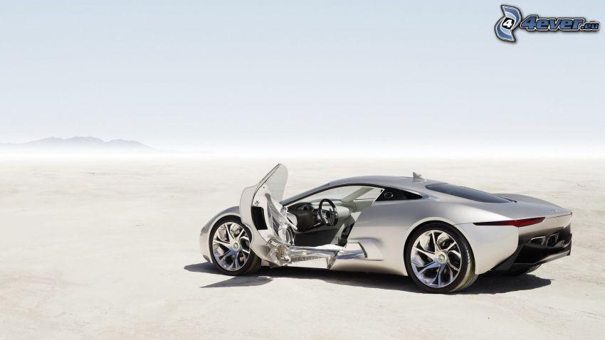 Jaguar C-X75, lago di sale, deserto