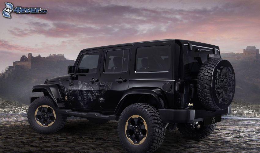 Jeep Wrangler Dragon, auto terrano