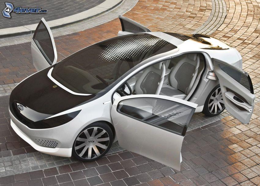 Kia Ray Plug, auto elettrica, concetto, piastrelle