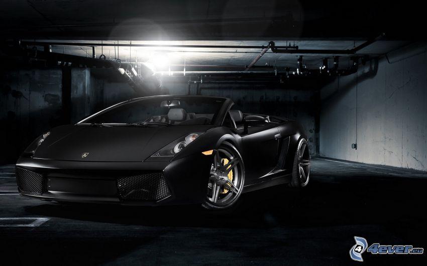 Lamborghini Gallardo, cabriolet, garage
