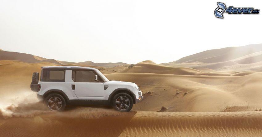 Land Rover DC100, deserto, dune di sabbia, polvere
