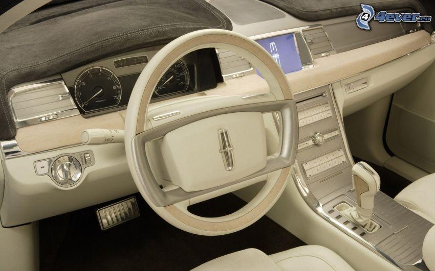 Lincoln MKS, interno, volante, cruscotto, concetto
