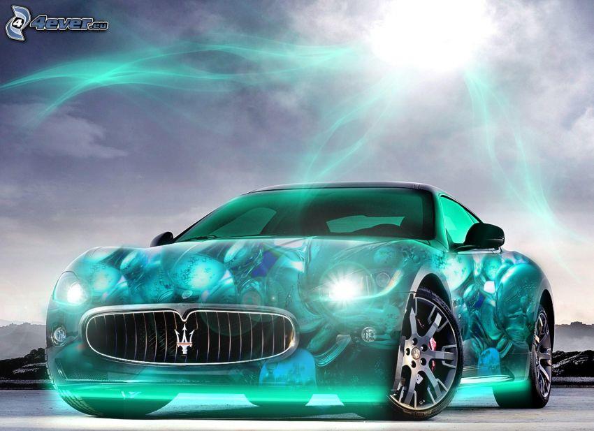 Maserati GranTurismo, neon