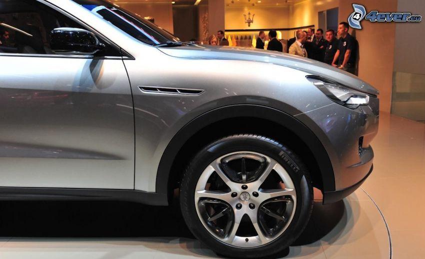 Maserati Kubang, mostra, salone dell'automobile, ruota