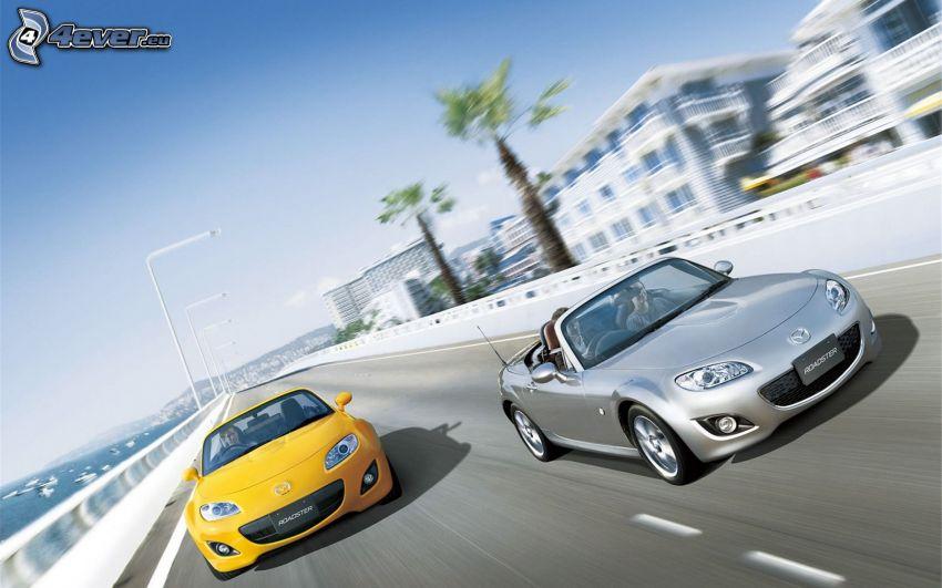 Mazda MX5, cabriolet, velocità
