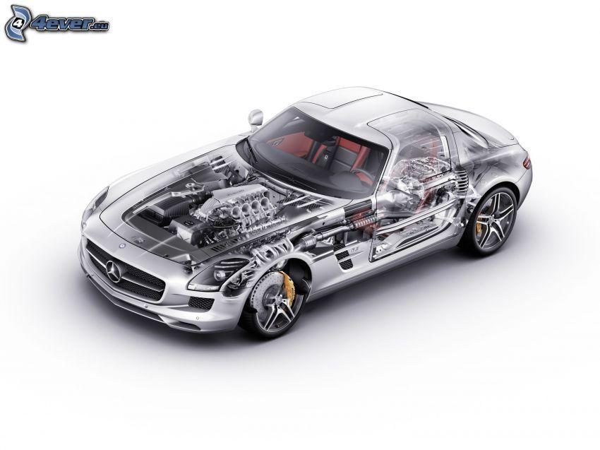 Mercedes, motore, costruzione