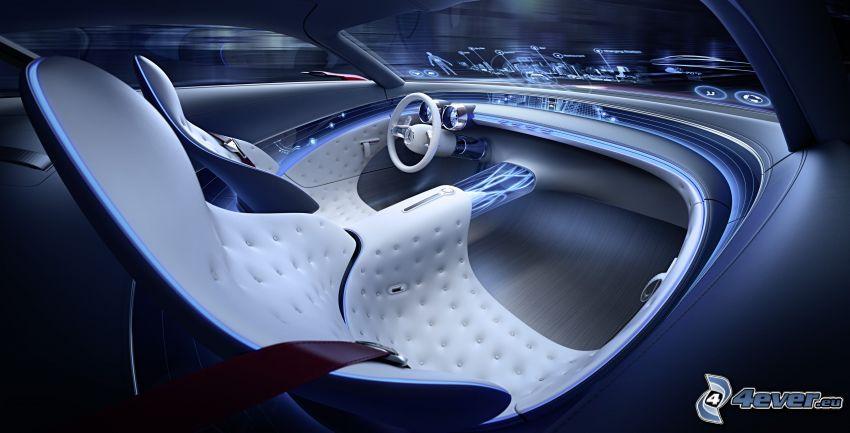 Mercedes-Maybach 6, interno
