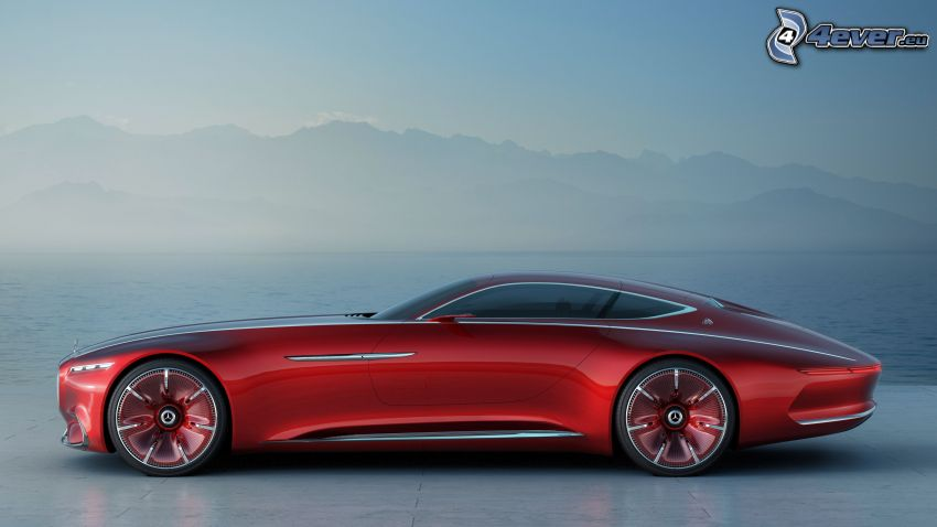 Mercedes-Maybach 6, lago, montagna