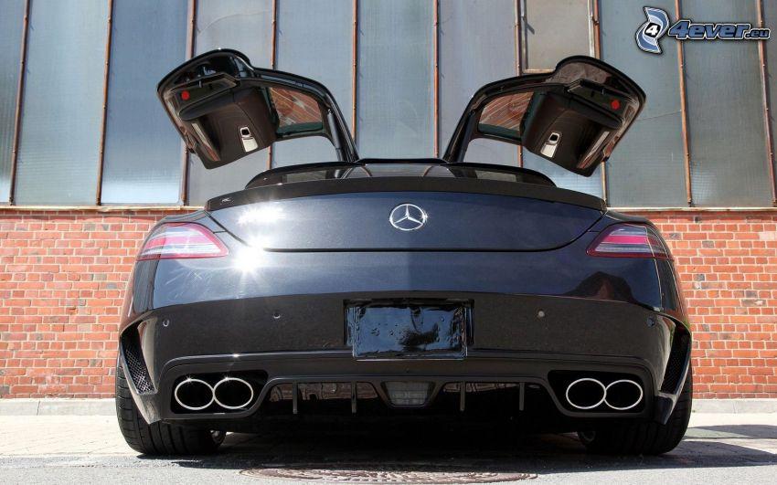 Mercedes SLS AMG GT3, porta, scarico dell'auto