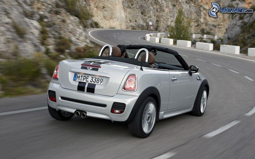Mini Cooper Roadster, cabriolet, velocità, curva