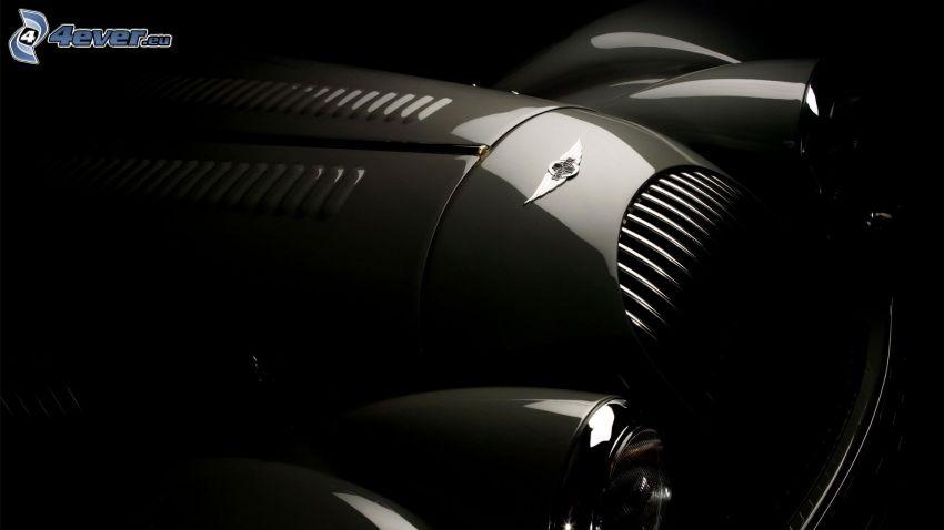 Morgan Aero, veicolo d'epoca, griglia anteriore