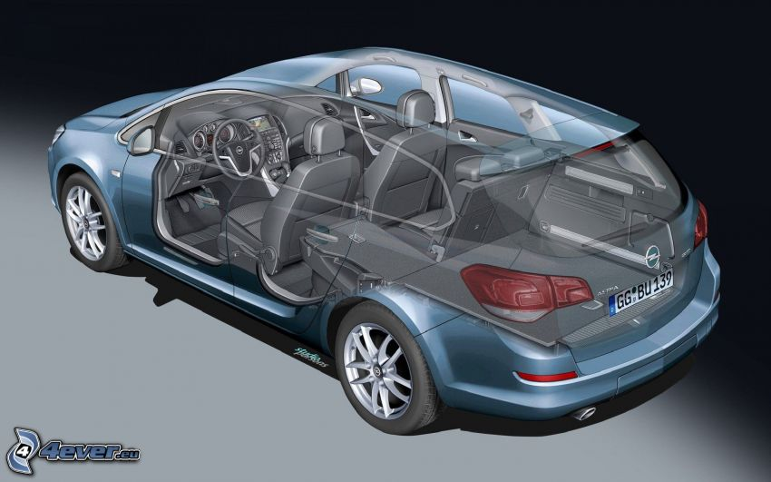 Opel Astra, interno