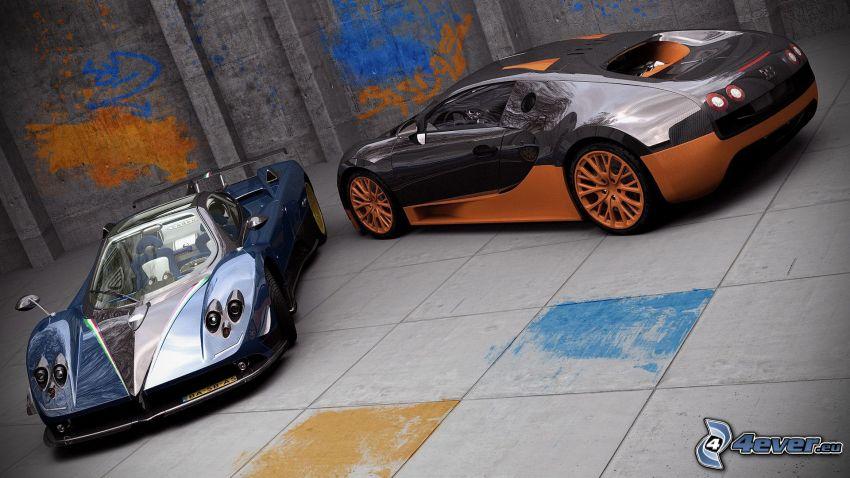 Pagani Zonda, Bugatti Veyron