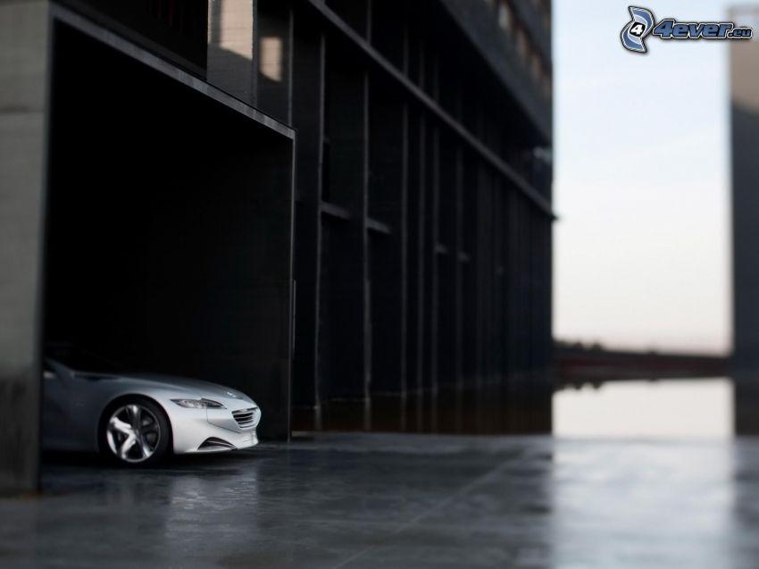 Peugeot, concetto, garage