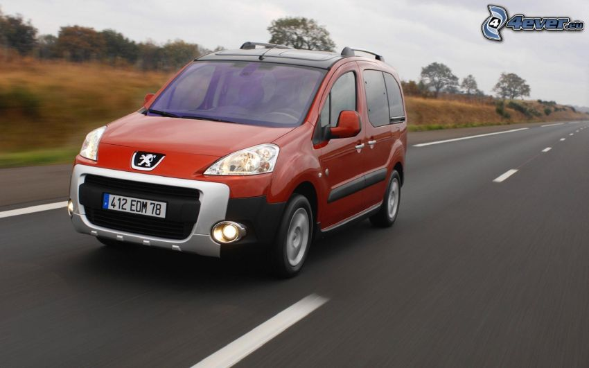 Peugeot Partner, strada, velocità