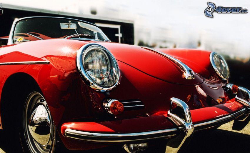 Porsche, veicolo d'epoca, riflettore, griglia anteriore