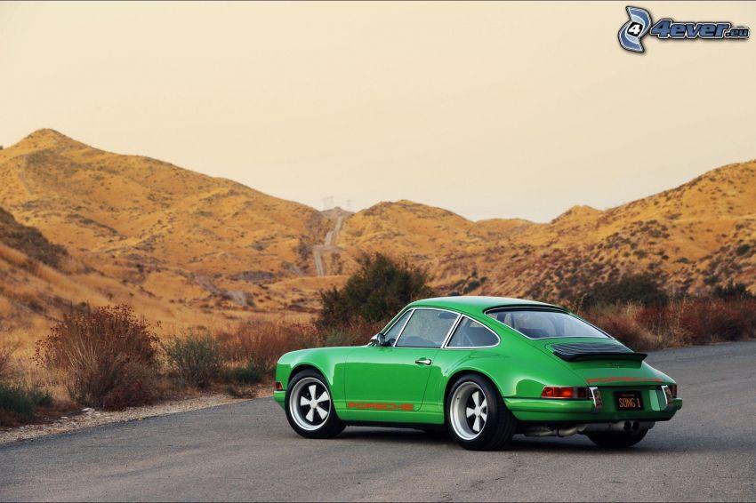 Porsche 911, veicolo d'epoca, montagna