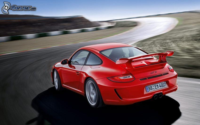 Porsche 911, velocità, circuito da corsa, curva