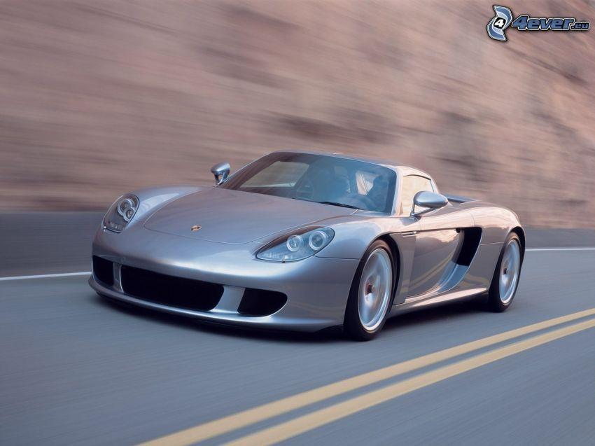 Porsche Carrera GT, auto sportive, strada
