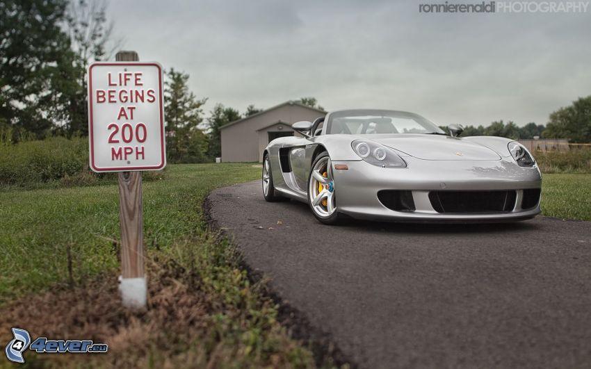 Porsche Carrera GT, cabriolet, segnale