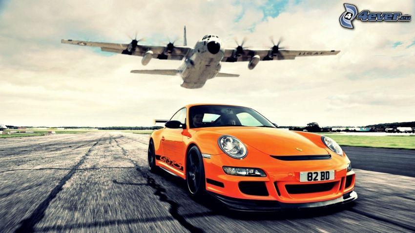Porsche GT3R, aereo, velocità