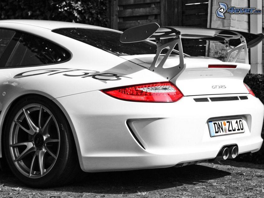 Porsche GT3R, auto sportive, faro posteriore
